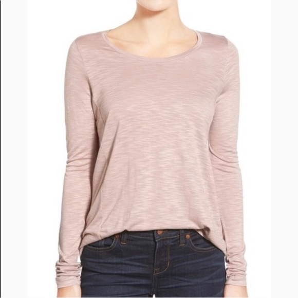 Madewell Tops - Madewell Anthem Forward Seam Pastel Pink T Shirt